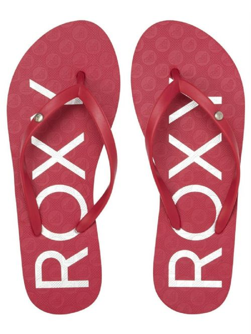 ROXY WOMENS FLIP FLOPS.NEW SANDY CERISE PINK RUBBER BEACH THONGS SANDALS S20 76